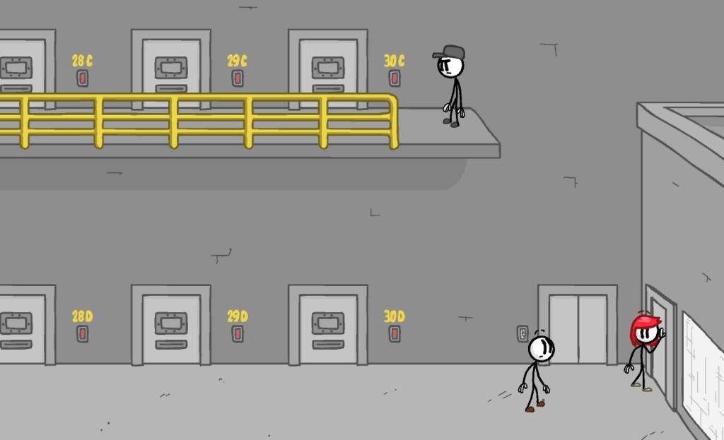 『Fleeing the COMPLEX』のプレイ画面
