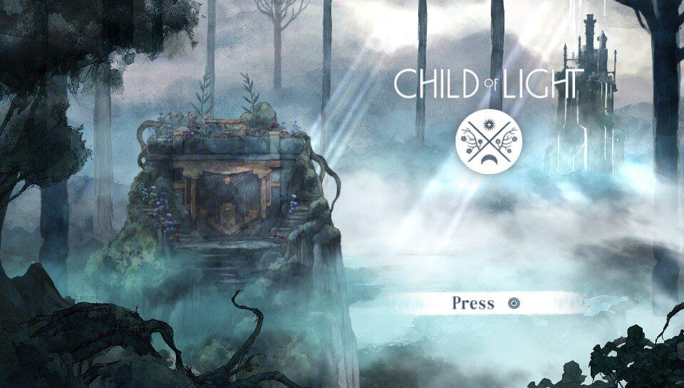 『チャイルド オブ ライト』のタイトル画面