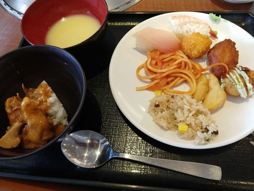 すたみな太郎のバイキングの食事