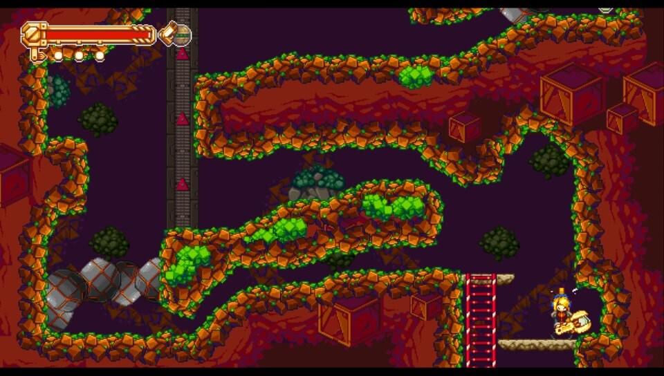 『Iconoclasts(アイコノクラスツ)』のプレイ画面