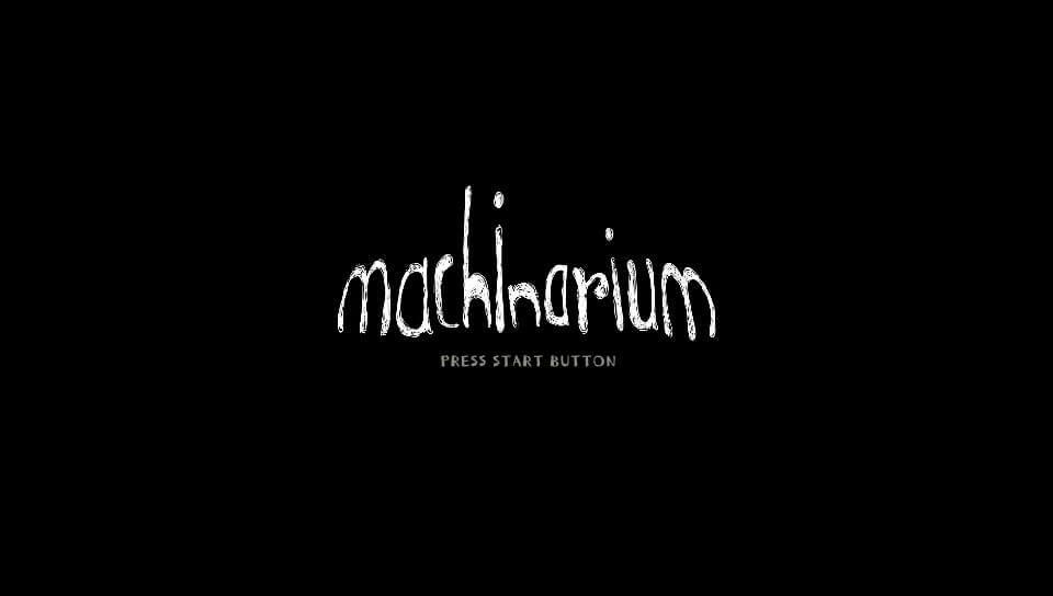 『Machinarium(マシナリウム)』のタイトル画面
