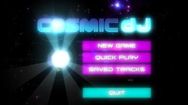 『Cosmic DJ』のタイトル画面