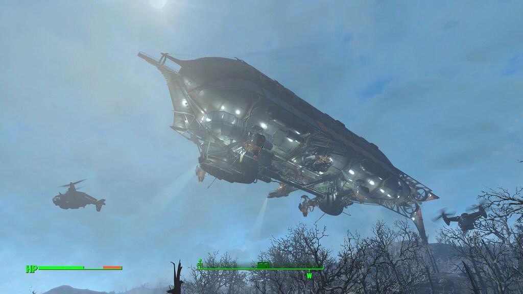 PS4『Fallout 4』の B.O.S. の空中戦艦