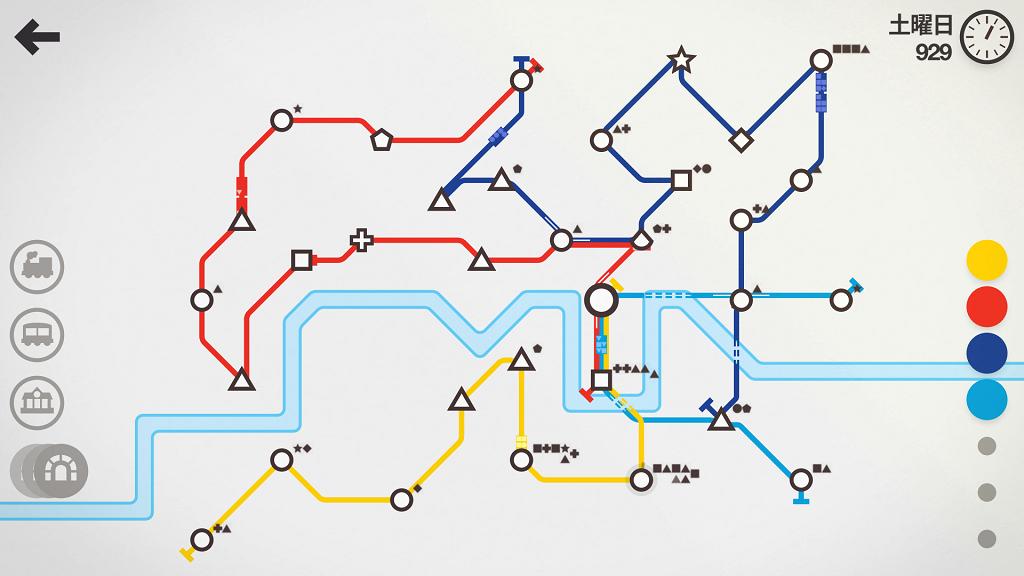 スマホゲーム『Mini Metro』