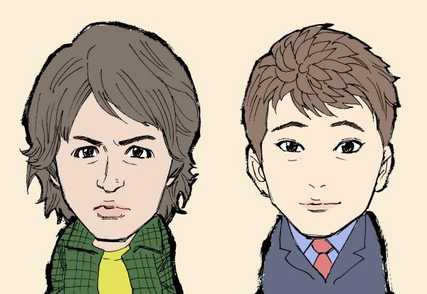 SMAP、木村拓哉の似顔絵、中居正広の似顔絵