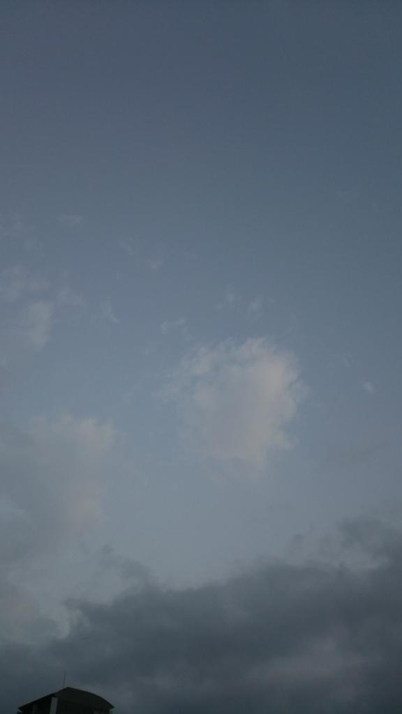 外に出ると、曇り空だった