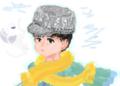 はてなハイカーさん、寒くなってきたしニット帽かぶった子のイラスト