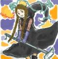 [耳隠し三つ編みちゃん]はてなハイカーさん、ハロウィーン近いしハロウィーンっ子のイラスト