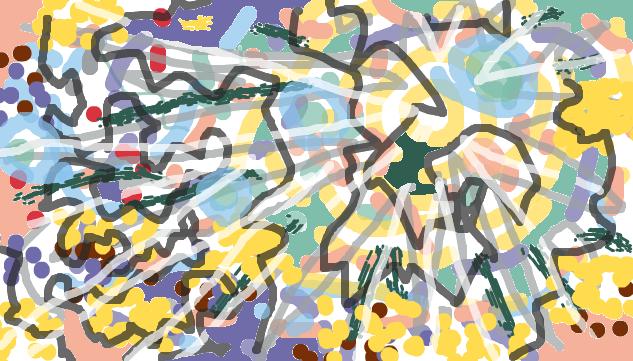 無意識をぐにぐにどんどん描いていいですか?
