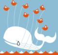 Twitter のクジラにらくがきする