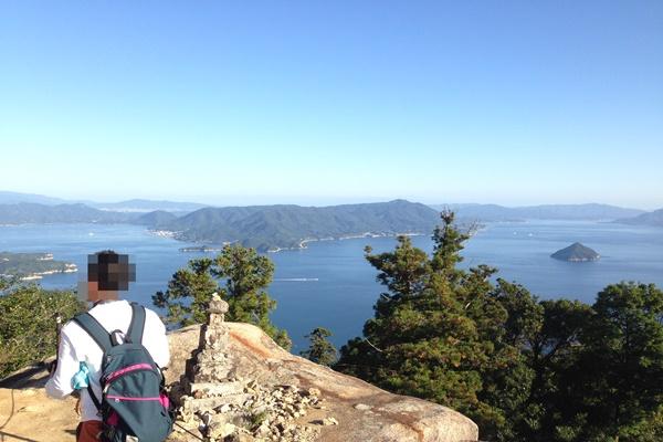 宮島 山頂付近 景色