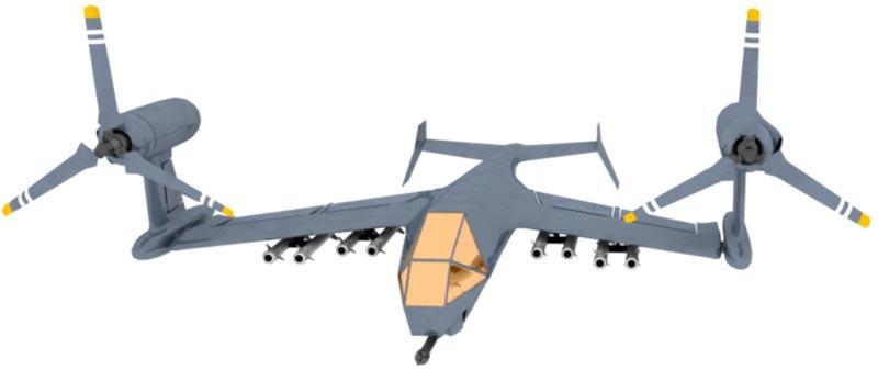 ティルトローター機で攻撃機を考...