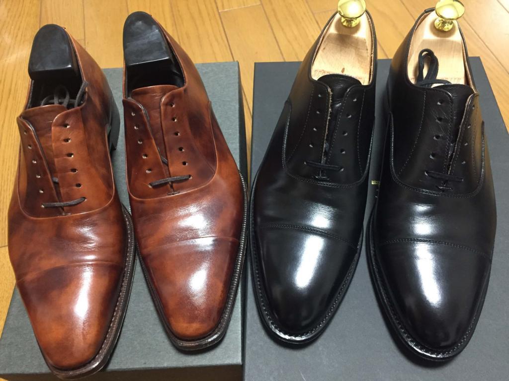 革靴エイジング