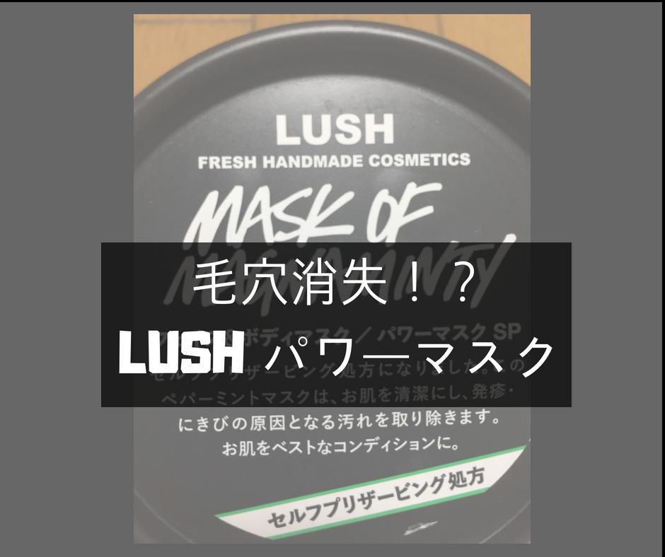 LUSH(ラッシュ)パワーマスク