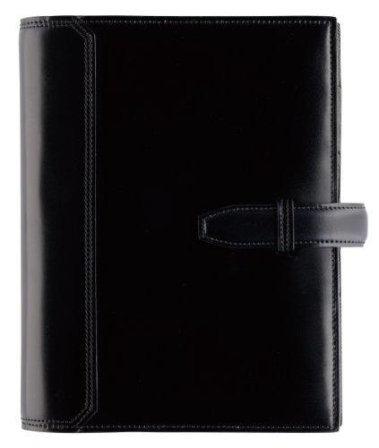 フランクリンプランナー 【コンパクトサイズ】 水染めコードバン・バインダー、ブラック