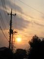 [ハイク]夕陽の写真