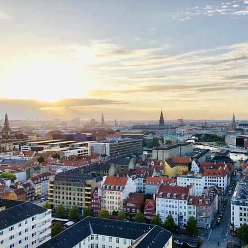 コペンハーゲンの夕日