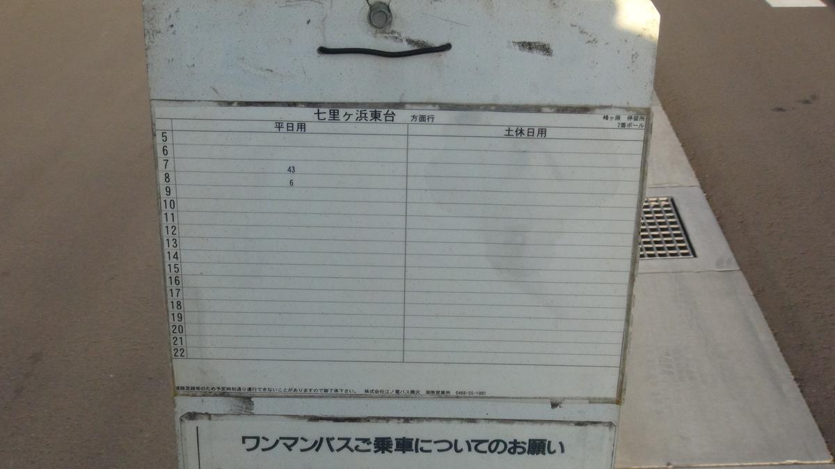 峰ヶ原停留所(ダイヤ)