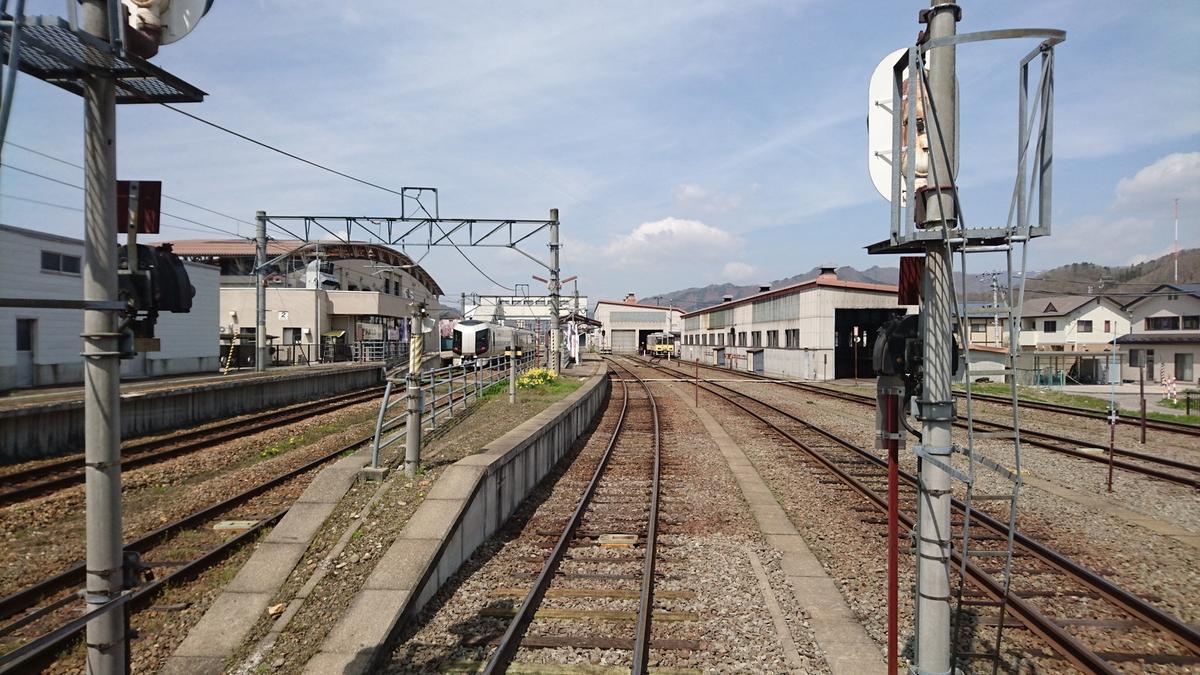 会津田島駅(後方展望)