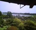 水戸偕楽園好文亭二階より千波湖を望む