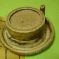 茶臼 (碾臼) 信楽香合