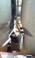 米原5番線で折り返しの前部車両と後方車両との接続