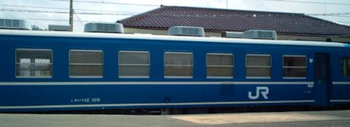 5両編成最後尾 ディーゼル動力付客車 12系 スハフ12 129