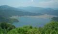 賤ヶ岳山頂から余呉湖を望む