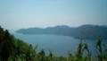 賤ヶ岳山頂から左手琵琶湖の入り江を眺む