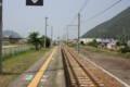 (赤穂線)坂越駅より西:播州赤穂駅方面 ~なんという一直線~ 下り