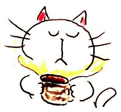 コーヒーの最初の一口 至福の瞬間…