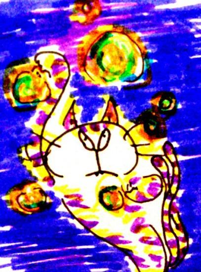 本日 目にうつる景色ぜんぶモノクロに見えた人達におくる、ねこ妖怪のパワーボール!!!