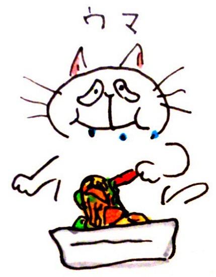 焼きそばツナマヨ味のツナ缶入り野菜入り!