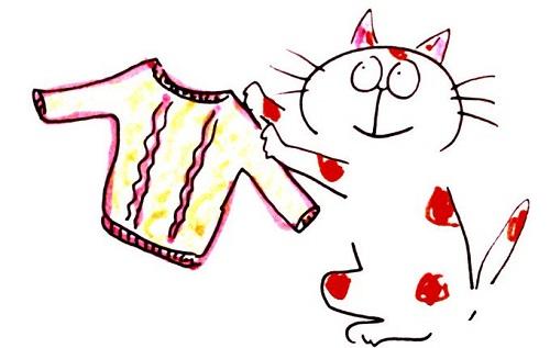 着古しのセーターもらったの