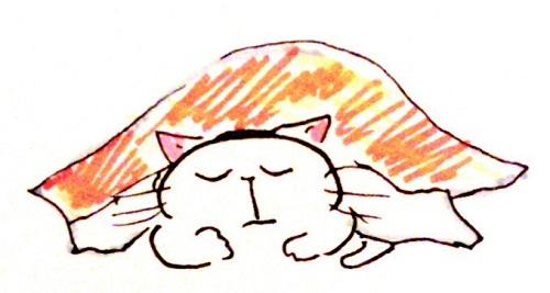 今日は寝坊したから1日が短くて楽だなぁ