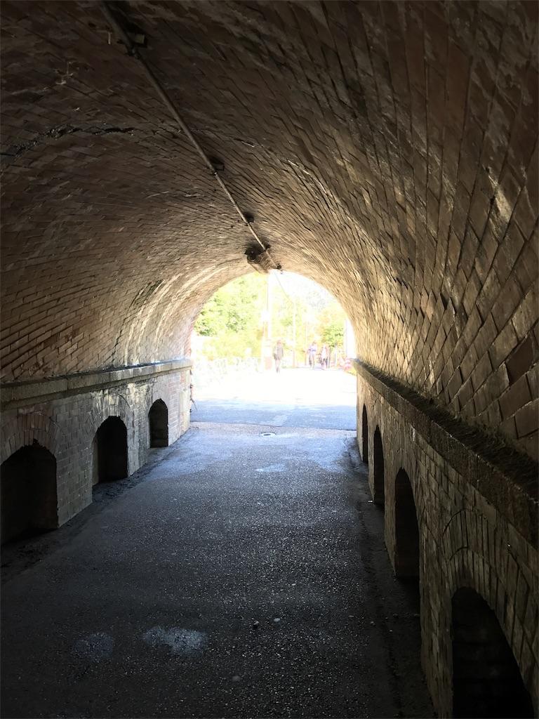 インクラインのトンネル