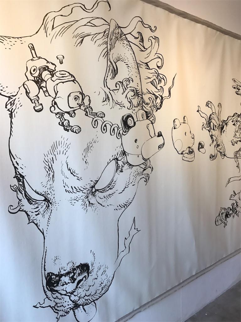 寺田さんの壁面ライブイラスト