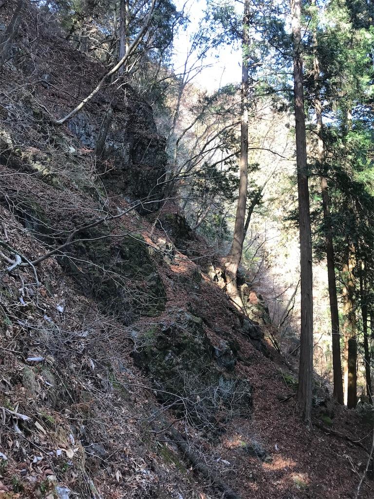 横から見た急斜面