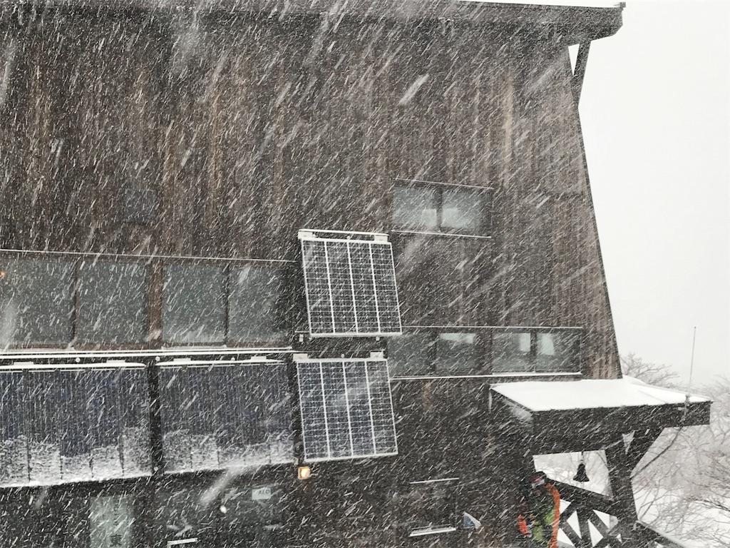 猛吹雪の小屋