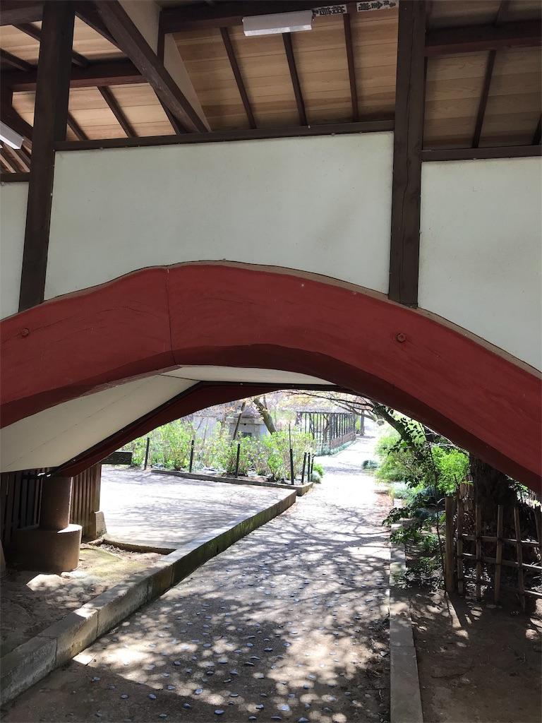 廊下の下のアーチ