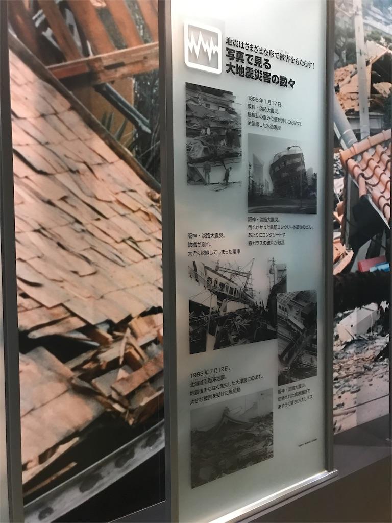 地震のパネル