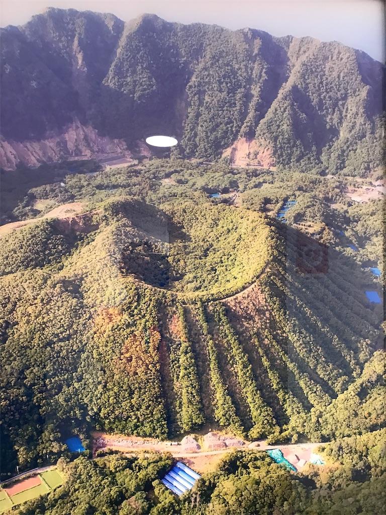 青ヶ島丸山の船内パネル写真