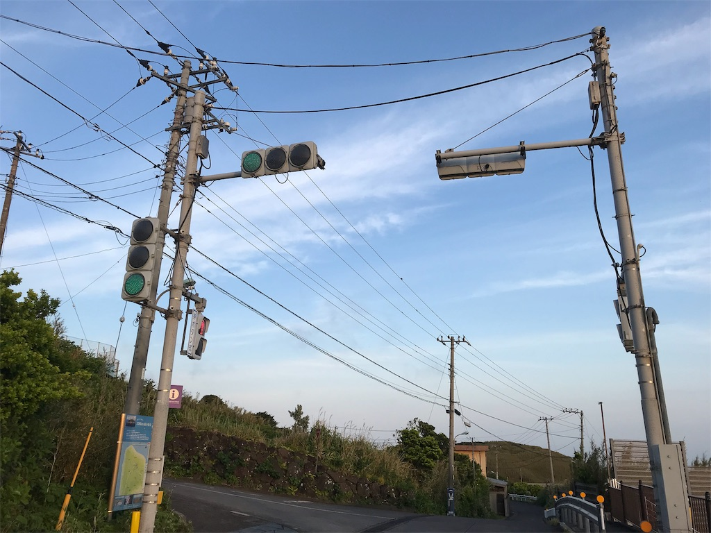 島で一つの信号機