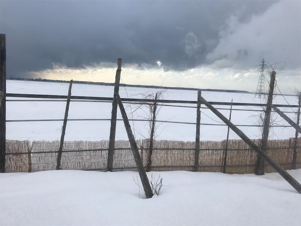 どこまでも続く雪の地平線。