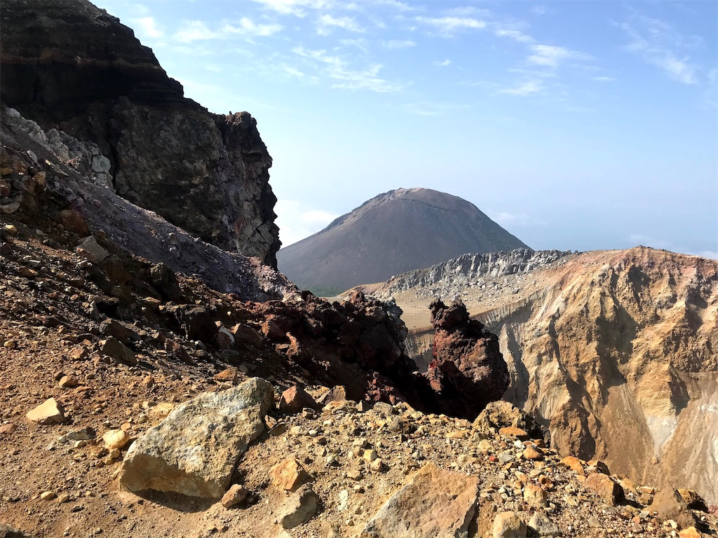 赤池火口から見る阿寒富士