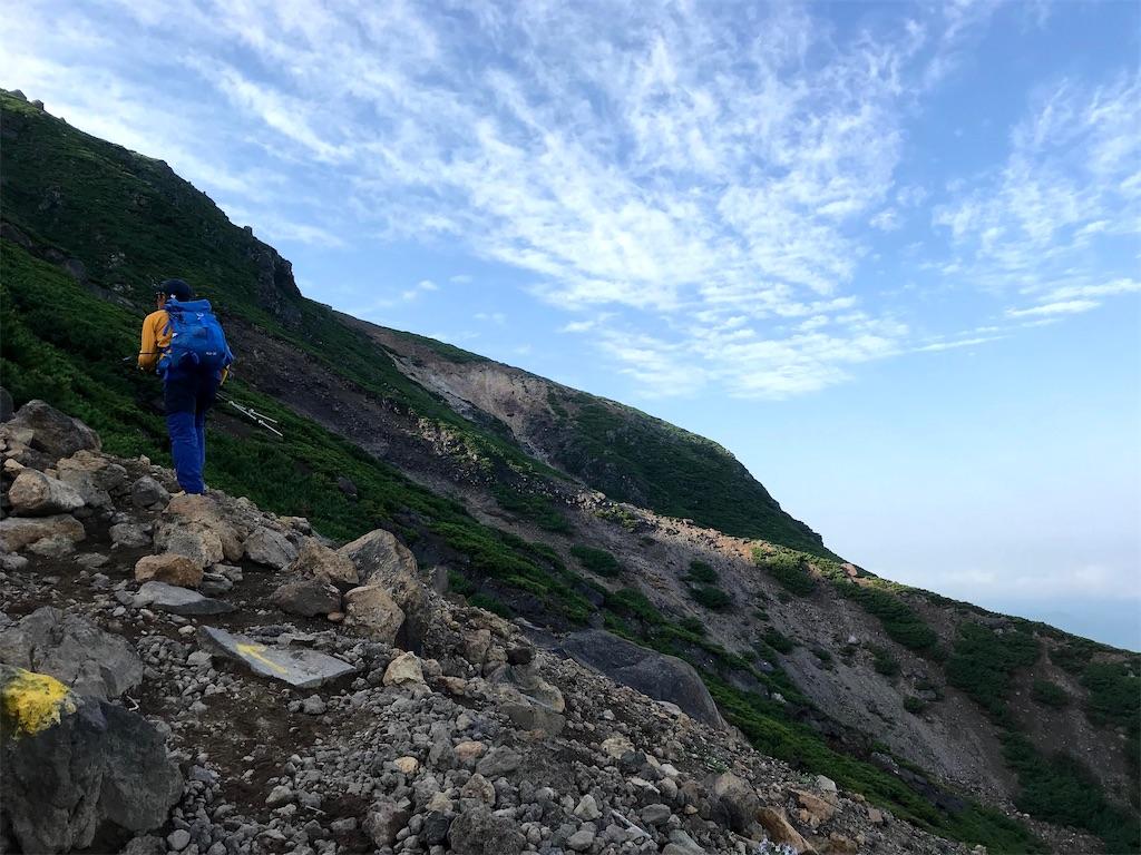 雌阿寒岳温泉ルートの登り