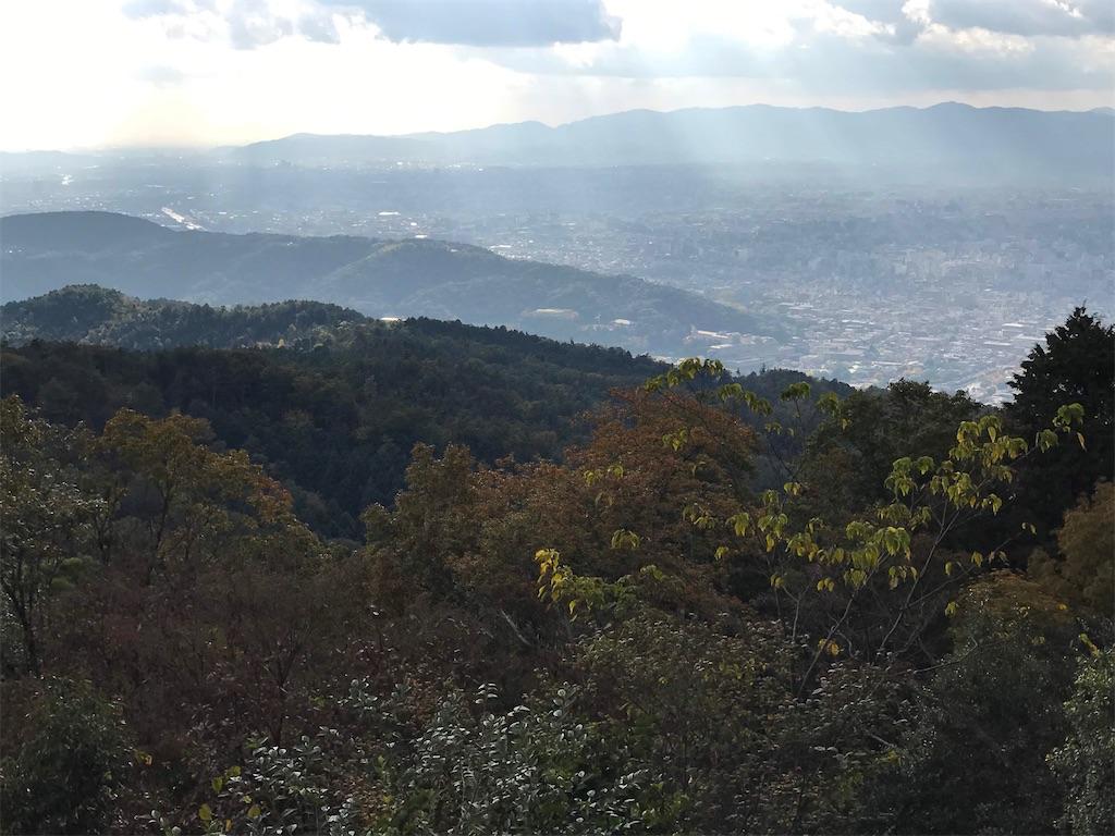 大文字山から見える京都の市街