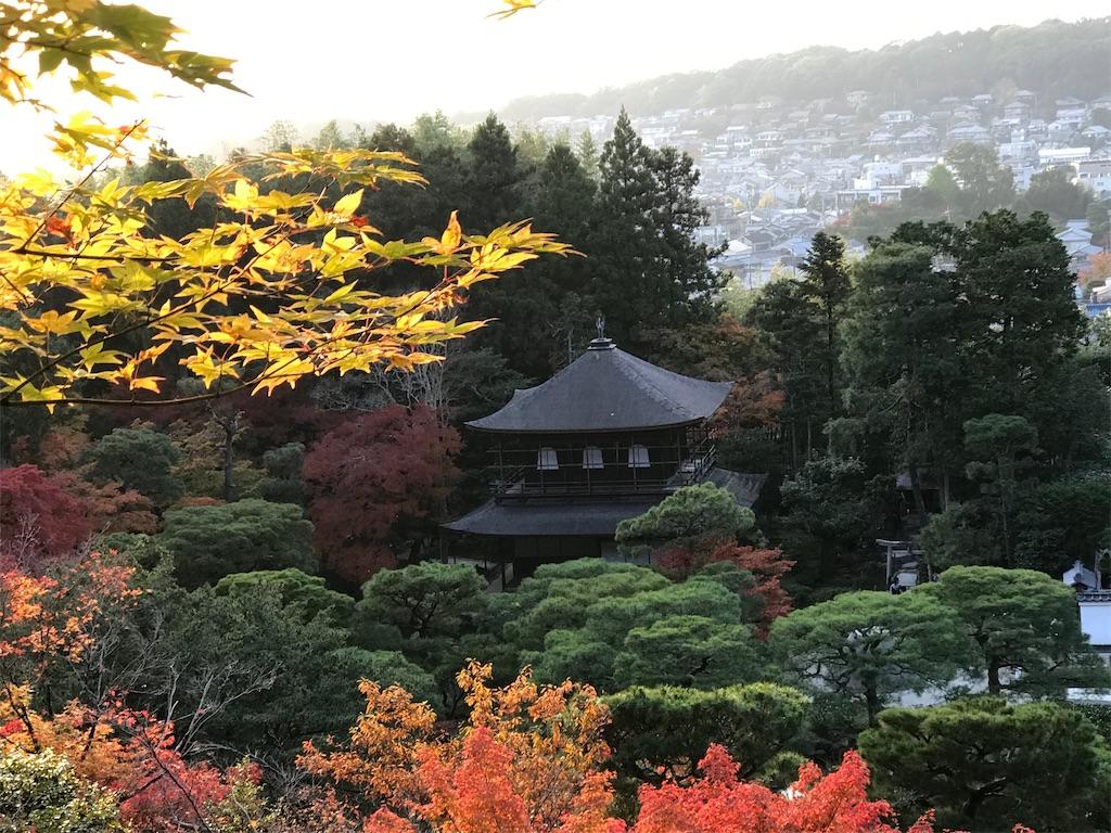 夕暮れ前にたどり着いた、この日の終点の銀閣寺