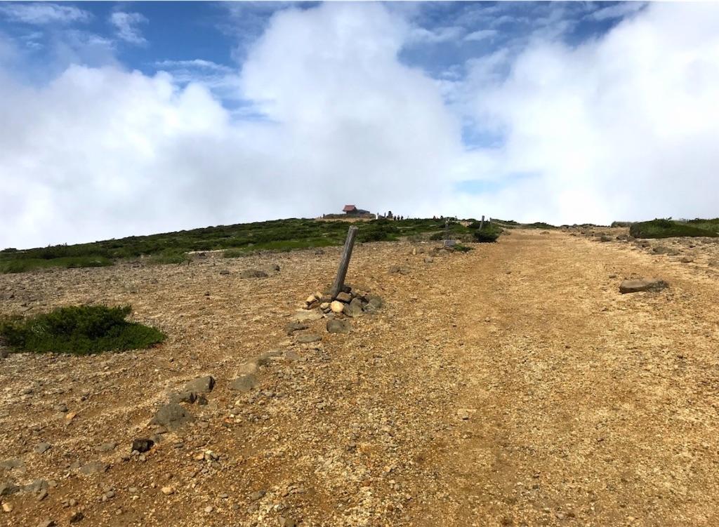 熊野岳山頂手前