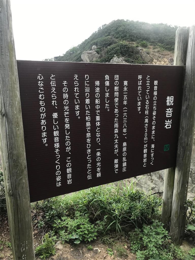 観音岩説明板